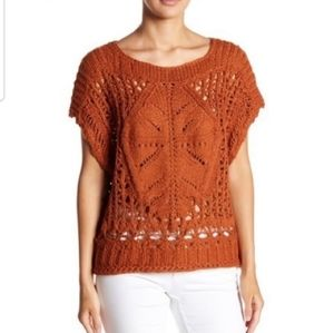 Free People Diamond in the Rough Sweater Orange S